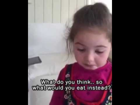 Little girl finds out the truth