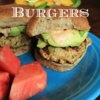 Salmon Burgers with Chipotle Mayo and Avocado