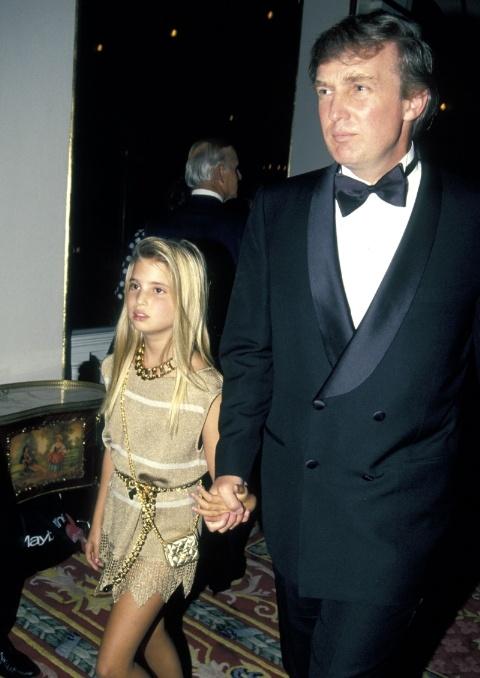 Иванка Мари Трамп / Ivanka Marie Trump с отцом. 1991 год