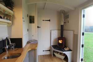 Florence Shepherds Hut Interior