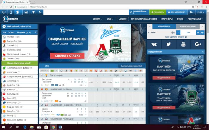 Сайт букмекерской конторы 1хБЕТ