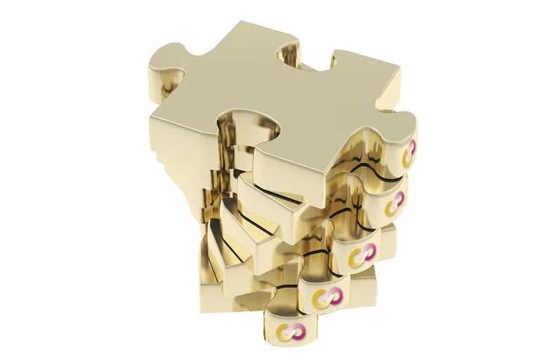 5 Puzzle Steine