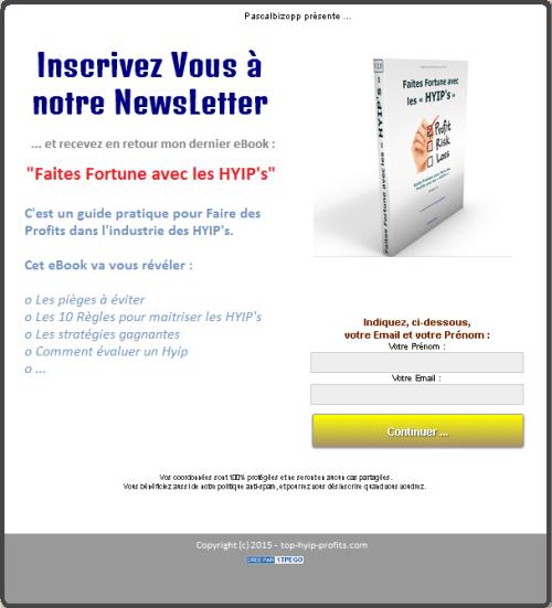 Inscrivez-vous à notre NewsLetter en cliquant ICI ...