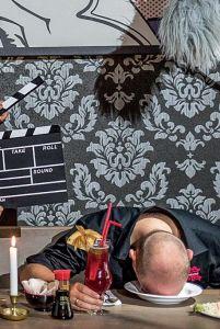 """""""Spot an für eine Leiche"""" – Mord und Totschlag am Filmset – jetzt in den Britzer Seeterrassen - Foto: Reiner Freesex21.de"""