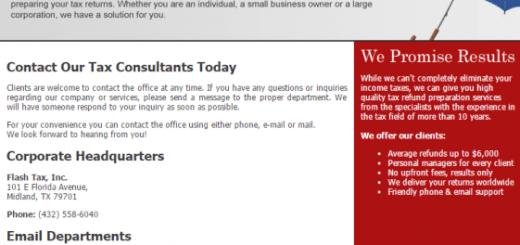 FlashTaxTexas.com/FlashTaxTexasllc.com Operator- Client Manager Job Scam