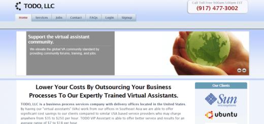 TODO, LLC Virtual Assistant Job Scam At V1S1.Com