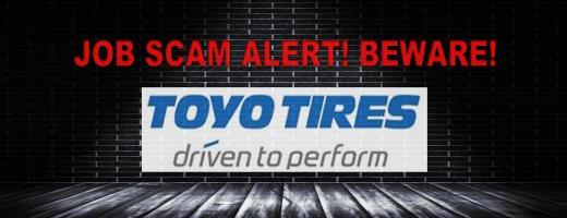 Job Scam Alert! TOYO TIRE & RUBBER CO Billing and Collections Representative