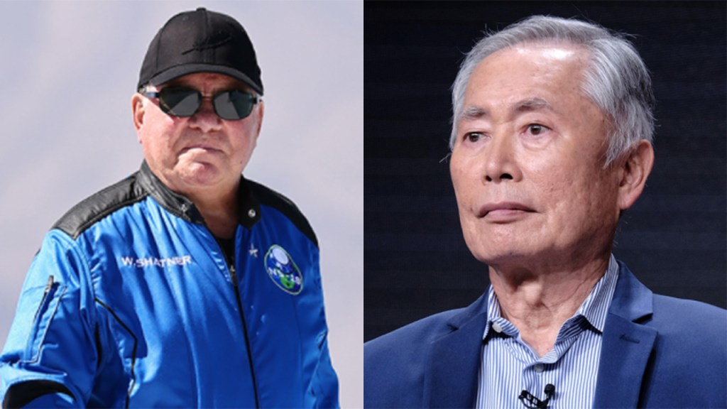 William Shatner claps back at George Takei's body-shaming comments following Blue Origin flight: 'Don't hate'