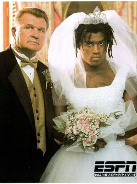 Ricky Williams getting married to Coach Ditka