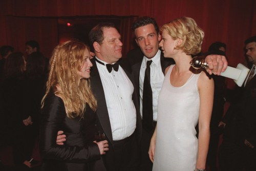 Harvey Weinstein with Affleck and Paltrow