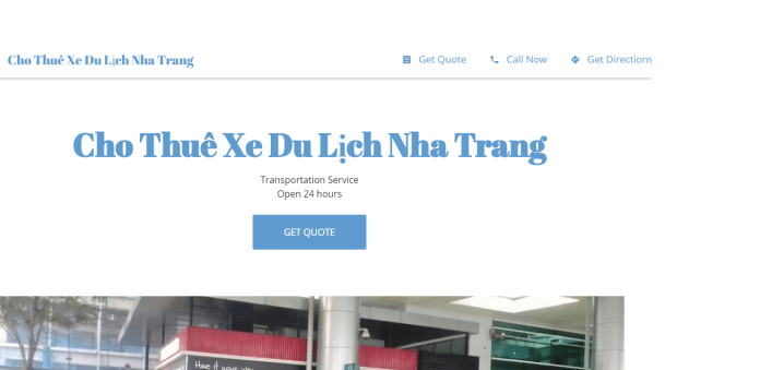 (2021)Top 10 công ty dịch vụ thuê xe uy tín tại Nha Trang