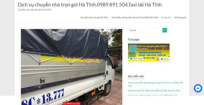 Công Ty Chuyển nhà trọn gói Taxi Tải Hà Tĩnh