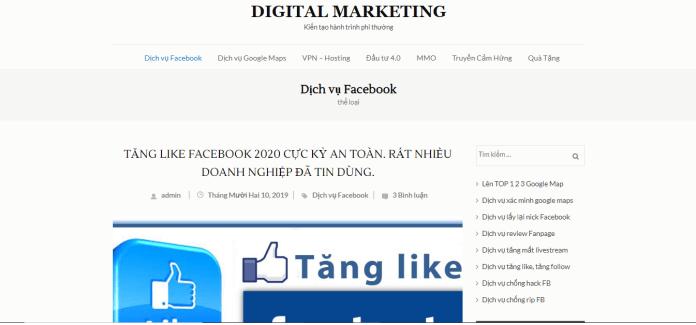 Dịch vụ tăng like Facebook Betech