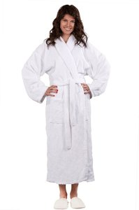 Soft Touch Linen Unisex Terry Shawl Collar Bathrobe