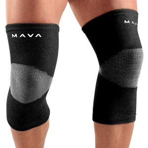 Mava Sports Knee Support Sleeves (Pair) for Joint Pain