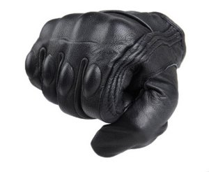 FXC Full Finger Motorcycle Leather Gloves Mens Premium Protective Motorbike Gloves