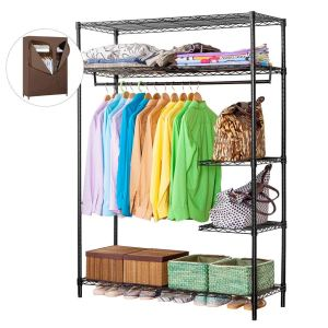 LANGRIA Heavy Duty Wire Shelving Garment Rack Clothes Rack