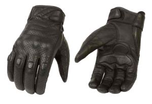Milwaukee Leather Mens Premium Leather Perforated Cruiser Gloves MG7500