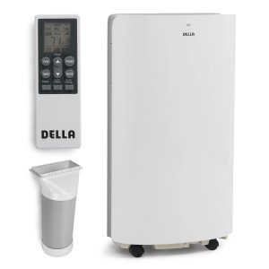 DELLA 14,000 BTU Evaporative Portable Air Conditioner-Heater-Dehumidifier-Cooling Function LED Panel Control