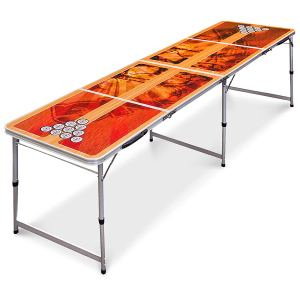 Best Choice Products 8 Portable Beer Pong Table Foldable Outdoor Game Set