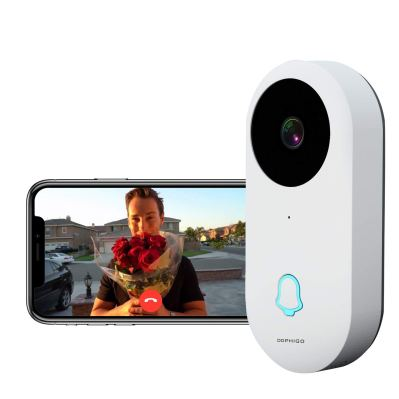 DophiGo 960P Wi-Fi Enabled Smart Video Camera Wireless Doorbell Button Chime