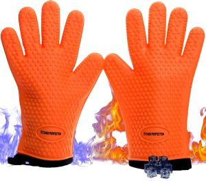 Kitchen perfection Silicone Smoker Oven Gloves