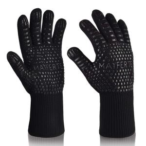 MAYFERTE BBQ Cooking Glove Extreme Heat Resistant oven gloves