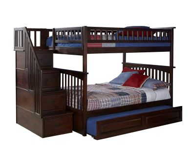Columbia Staircase Bunk Bed with Trundle Bed
