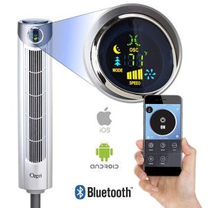 Ozeri Ultra 42 Oscillating Bluetooth Tower Fan