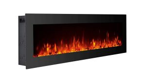GMHome 40 Electric Fireplace Wall Mounted Freestanding Heater Crystal Stone Flame Effect 9 Changeable Color Fireplace
