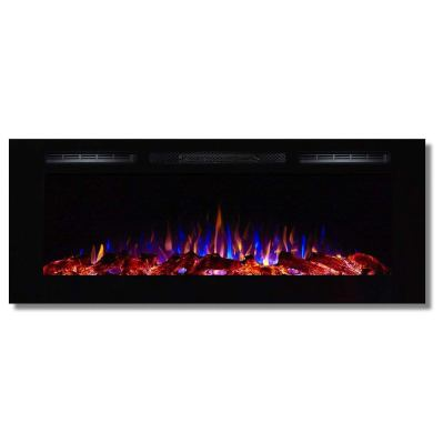 Regal Flame Fusion 50 Log Built-in Ventless Recessed Wall Mounted Electric Fireplace Better Than Wood Fireplaces