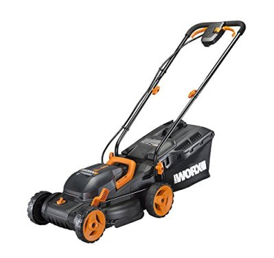 Worx WG779 40V (4.0AH) Cordless 14 Lawn Mower with Mulching Capabilities and Intellicut Dual Charger 2 Batteries