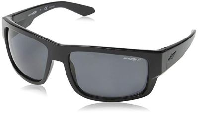 Arnette Men Grifter Polarized Rectangular Sunglasses BLACK 62 mm
