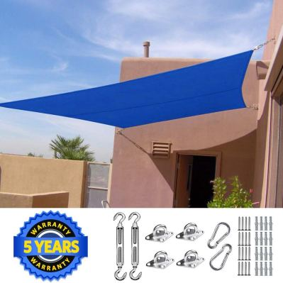 Quictent 20X16FT 185G HDPE Rectangle Sun Shade Sail Canopy