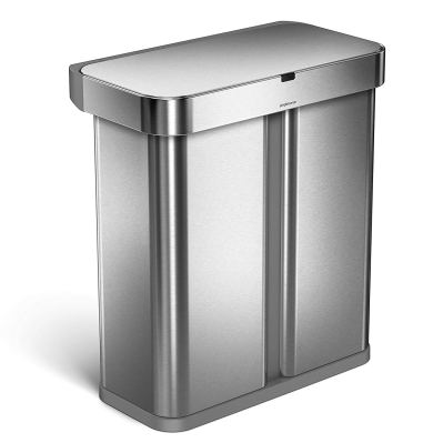simplehuman 58 Liter - 15-3 Gallon Stainless Steel Touch-Free