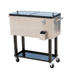 Outsunny 80 QT Rolling Ice Chest