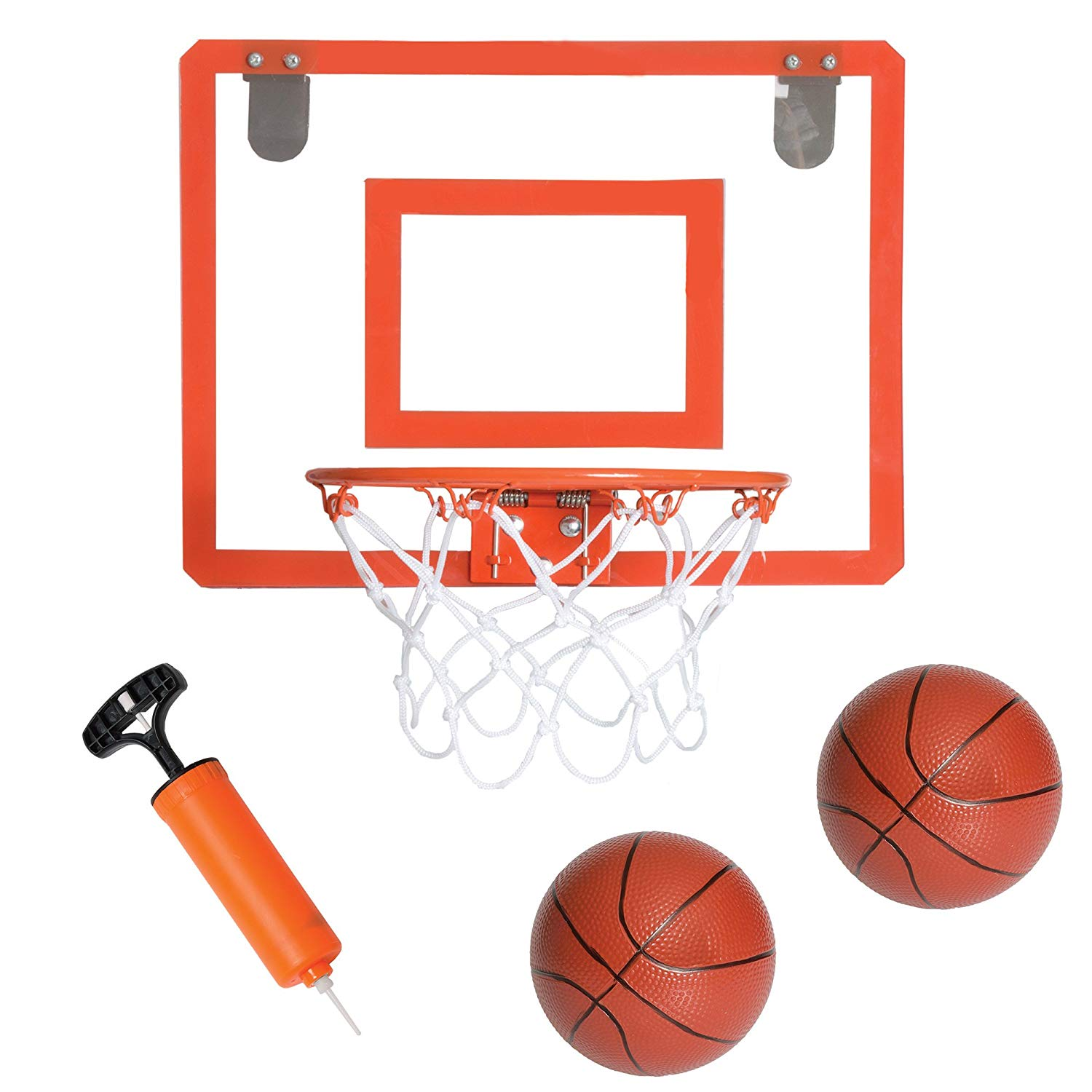 Stumptown Sportz Mini Basketballs for Mini Basketball Hoop Set Includes 2 x 5 inch Basketballs and 1 Hand Pump with Inflation Needles