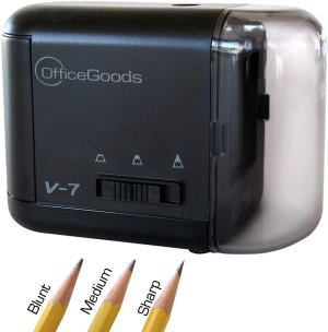 OfficeGoods Electric and Battery Operated Pencil Sharpener