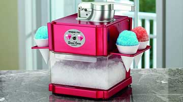 Snow Cone Maker Machine Shaved Ice Electric Tabletop Smoothie Summer Cool Syrup