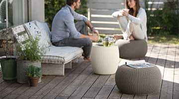 Majestic Home Goods Chocolate Chevron Indoor//Outdoor Bean Bag Ottoman Pouf Cube 17 L x 17 W x 17 H