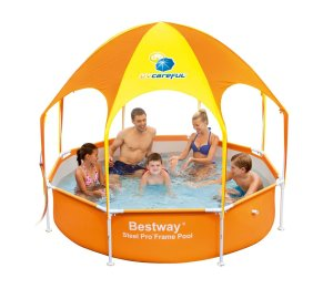 Splash-in-Shade Play Pool Orange