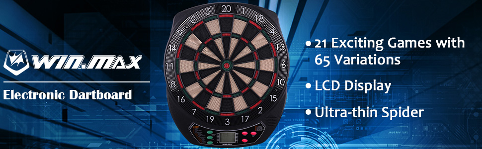 WIN MAX Electronic Dart Board indoor game