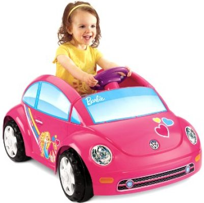 fisher price power wheels barbie volkswagen beetle toy car