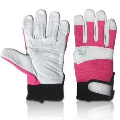 2. Simple and Timeless Leather Gardening Gloves