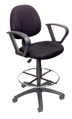 4. Boss Drafting Stool with Foot Ring and Loop Arms