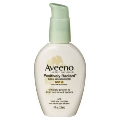 5 Aveeno Positively Radiant Daily Moisturizer with Broad Spectrum SPF 15, 4 Oz