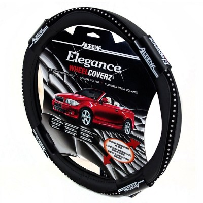 7. Alpena 10403 Black Bling Steering Wheel Cover