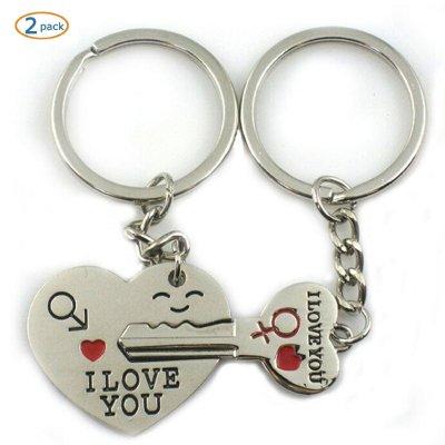3 World Pride Key to My Heart Cute Couple Keychain Love Keychain Key Ring