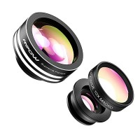 2. Mpow 3-in-1 Clip-On Camera Lens Kit