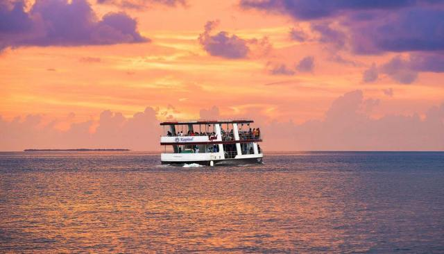 Image result for On a Cruise during Sunset in Goa